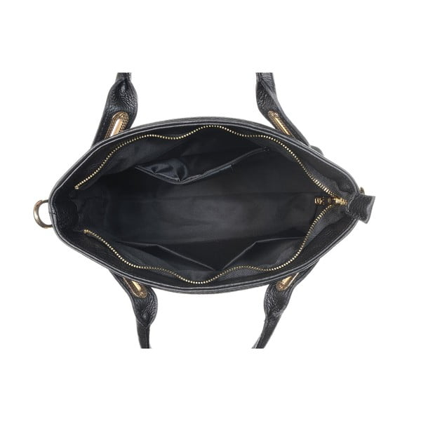 Skórzana torebka Mood Glam Black