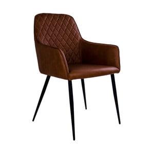 Brązowe krzesło z podłokietnikami House Nordic Harbo
