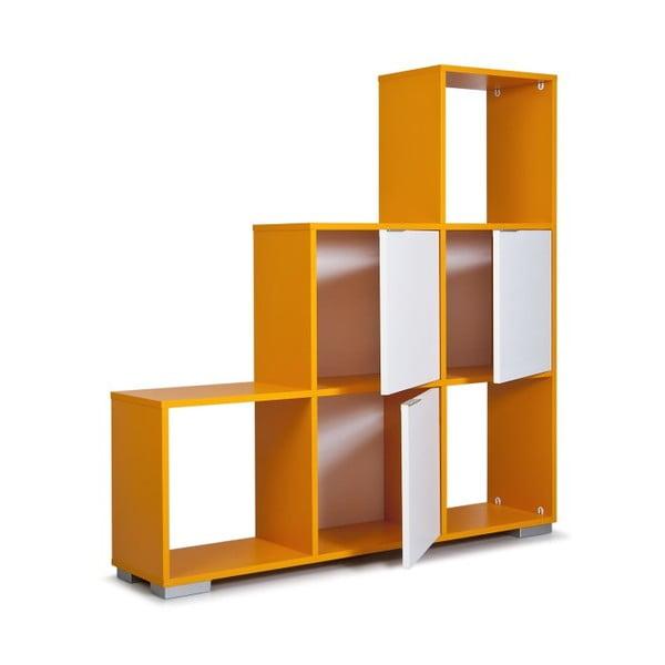 Regał Decolour, pomarańczowy/biały