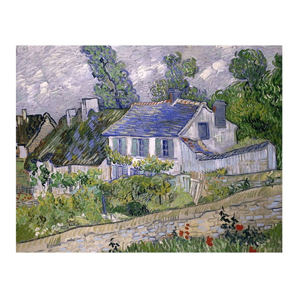Reprodukcja obrazu Vincenta van Gogha - Houses at Auvers, 50x40 cm
