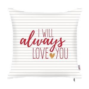 Poszewka na poduszkę Apolena Always Love You, 43x43 cm