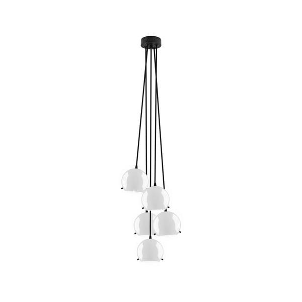 Czarno-biała pięcioczęściowa błyszcząca lampa wisząca Sotto Luce MYOO Elementary 5BS