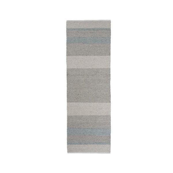 Dywan tkany ręcznie Linie Design Norwich Aqua, 80x250 cm