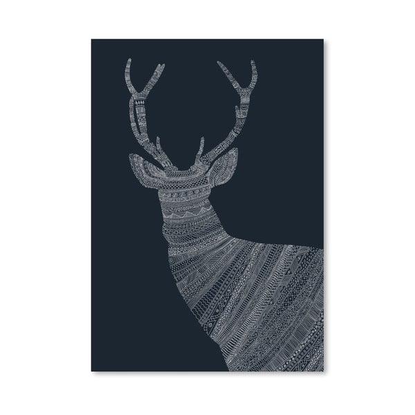Plakat Stag Blue, 30x42 cm