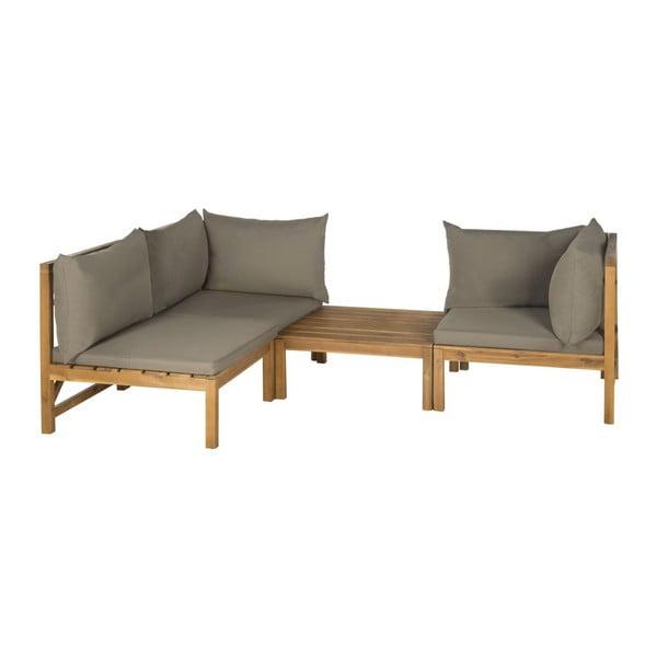 Sofa i stolik ogrodowy Sherwood Grey