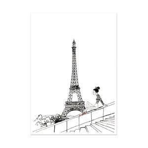 Plakat Leo La Douce Un Jour A Paris, 21x29,7cm