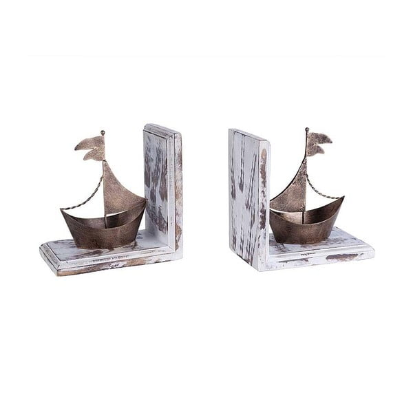 Zestaw 2 podpórek do książek Brass Ship