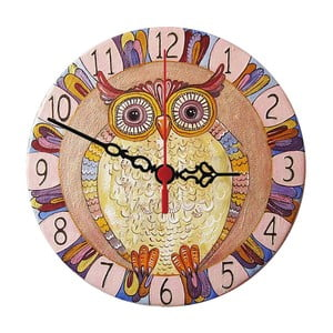 Zegar ścienny Colorful Owl, 30 cm