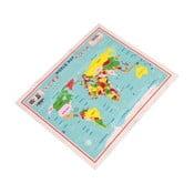 Ściereczka do czyszczenia okularów Rex London World Map