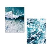 Zestaw 2 obrazów Onno Waves