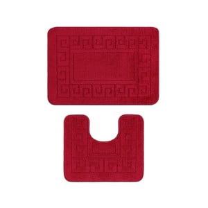 Komplet 2 czerwonych dywaników łazienkowych Madame Coco Confetti