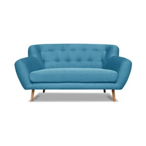 Turkusowa sofa dwuosobowa Cosmopolitan design London