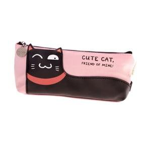 Różowy piórnik Languo Lazy Cat
