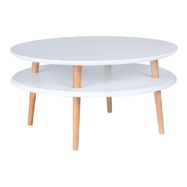 Biały stolik Ragaba UFO, Ø 70 cm