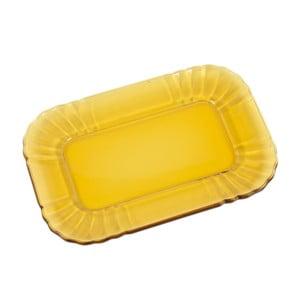 Szklany talerzyk Kaleidos, bursztynowy