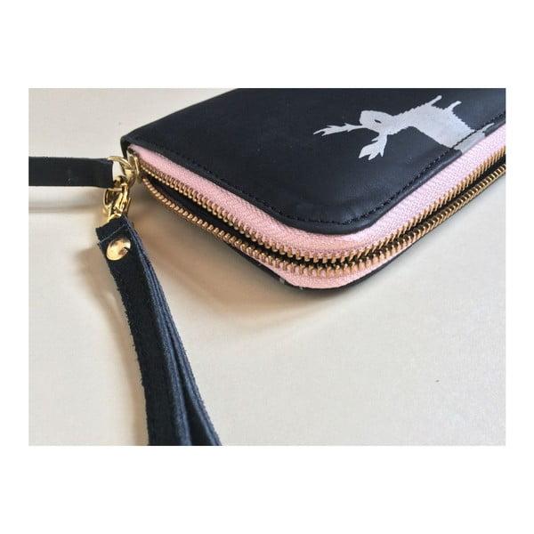 Portfel Zip Black/Pink