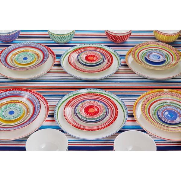 Komplet 4 talerzy porcelanowych na pizzę Oilily 31 cm, czerwony
