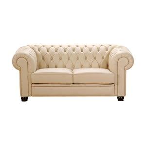 Beżowa sofa dwuosobowa ze skóry ekologicznej Max Winzer Chandler