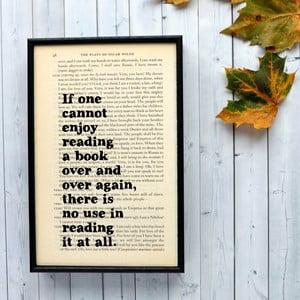 Plakat w   drewnianej ramie Oscar Wilde Reading