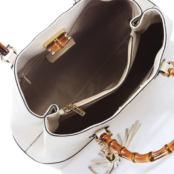 Biała torebka skórzana Teofila