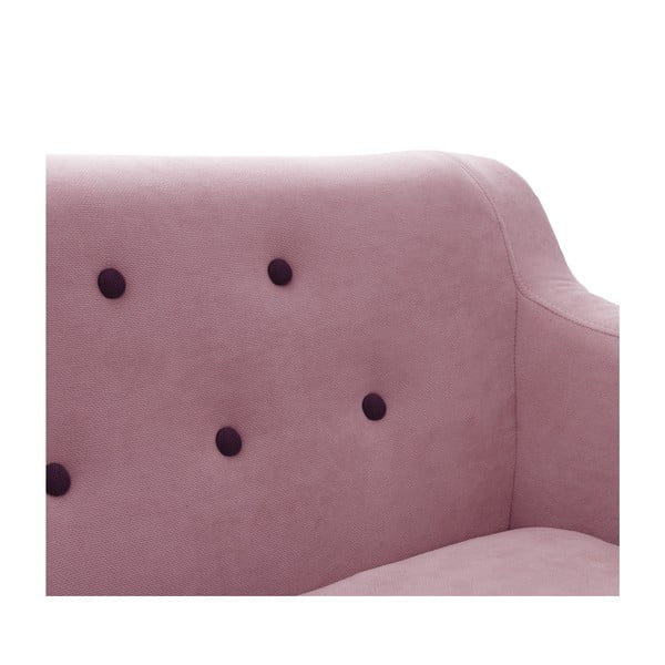 Sofa dwuosobowa VIVONITA Kelly Lincoln, różowa