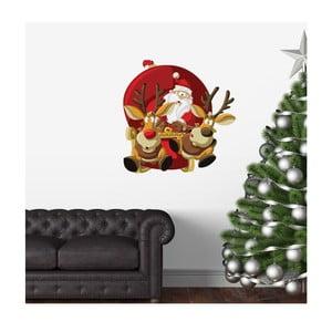 Naklejka świąteczna Ambiance Santa Claus Fast Pace