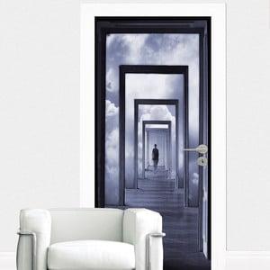 Naklejka na drzwi Step Into Clouds