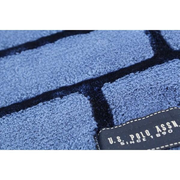 Dywanik łazienkowy U.S. Polo Assn. Blue Brick, 60x100 cm