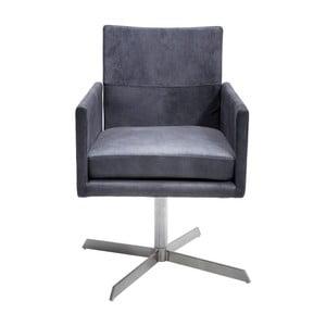 Antracytowe krzesło Kare Design Dialog