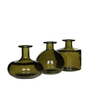 Zestaw 3 zielonych wazonów szklanych Mica Simone