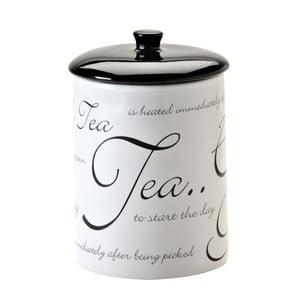 Pojemnik na herbatę Script White