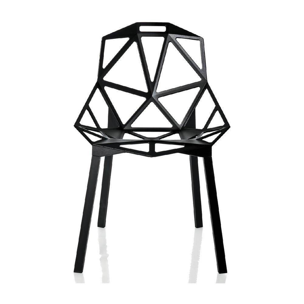 Czarne krzesło Magis One
