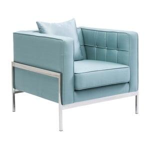 Jasnoniebieski fotel Kare Design Loft