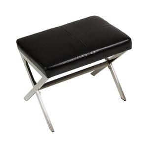 Czarna ławka Santiago Pons Simi, szerokość 56 cm