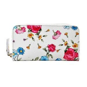 Kwiecisty portfel skórzany Chicca Borse Flowerina