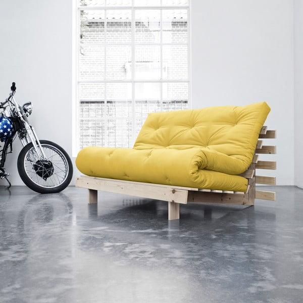 Sofa rozkładana Karup Roots Raw/Amarillo