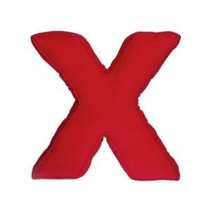 Poduszka w kształcie litery X, czerwona