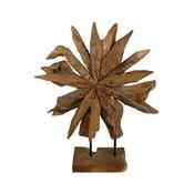 Dekoracja z drewna tekowego HSM Collection Sunflower, 40 x 50 cm