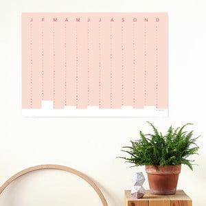 Kalendarz ścienny SNUG.Column 2017, różowy