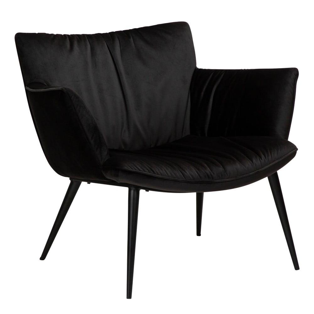 Czarny aksamitny fotel DAN-FORM Denmark Join