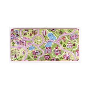 Dywan dziecięcy z rożowymi elementami Hanse Home City, 90x200cm