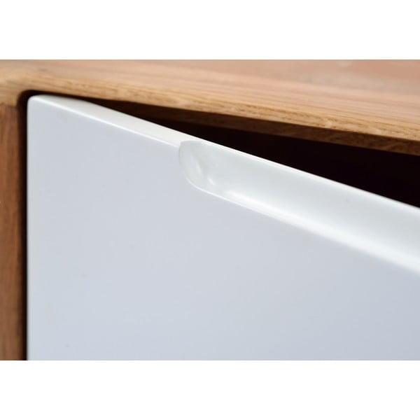 Dębowy stolik pod TV Ena, 135 x 55 x 45 cm