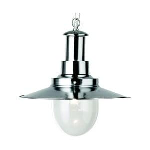 Lampa wisząca Searchlight Fisherman Shiny, srebrna