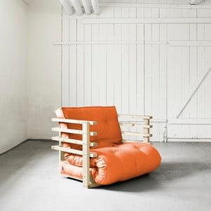 Fotel rozkładany Karup Funk Natural/Orange