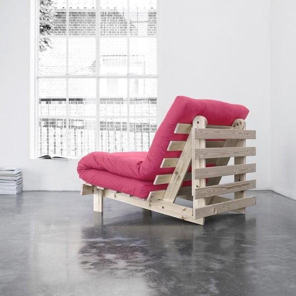 Fotel rozkładany Karup Roots Raw/Magenta