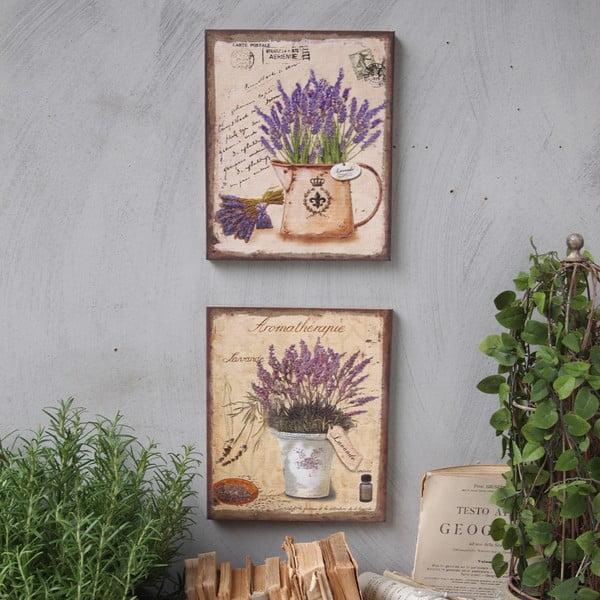 Dekoracja ścienna Lavenders, 2 szt.