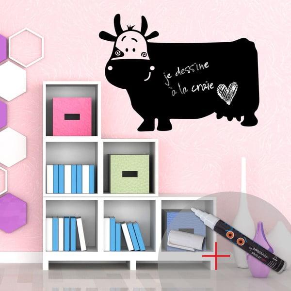 Naklejka - tablica do pisania Funny Cow + biały flamaster