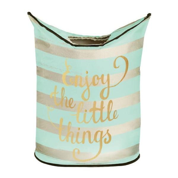 Kosz na pranie Butter Kings Mint Stripes