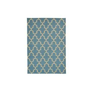 Ręcznie tkany kilim Light Blue Barok Kilim, 155x242 cm
