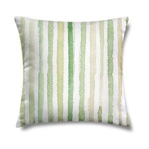 Poduszka Natural Green Stripes, 43x43 cm